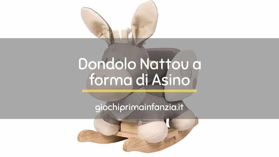 Dondolo Nattou a forma di Asino con Cintura
