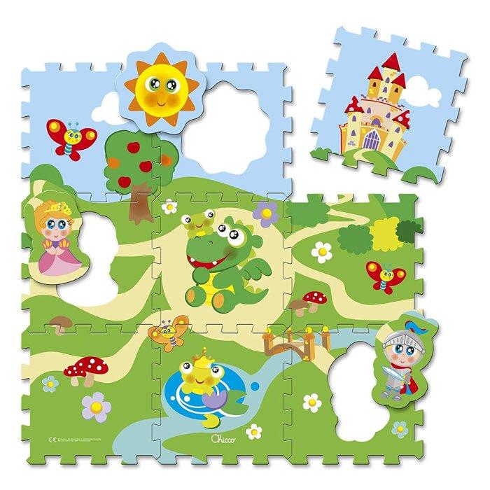tappeto puzzle a forma di castello