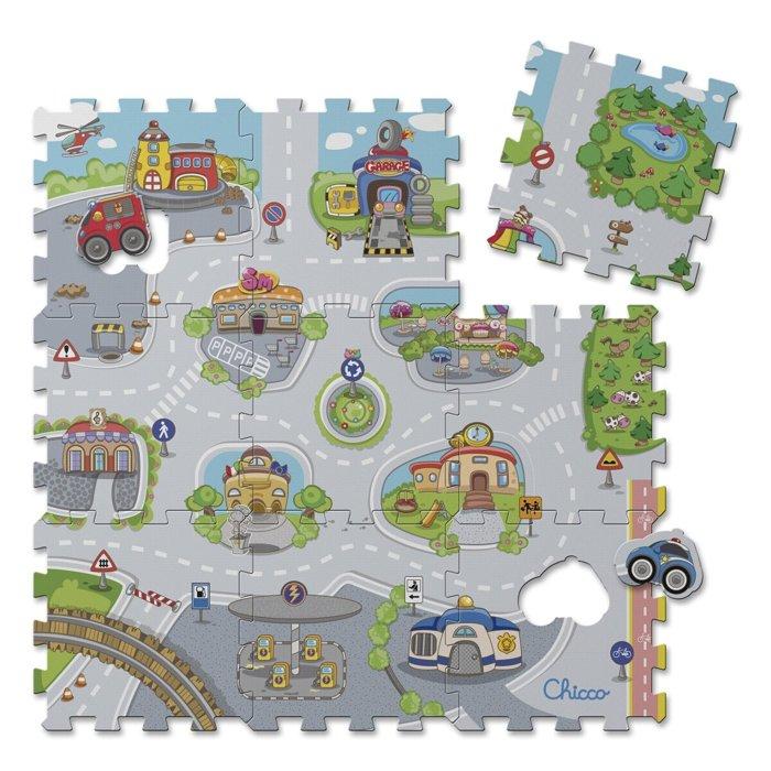 tappeto puzzle chicco a forma di città