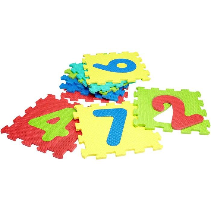 tappeto puzzle con numeri