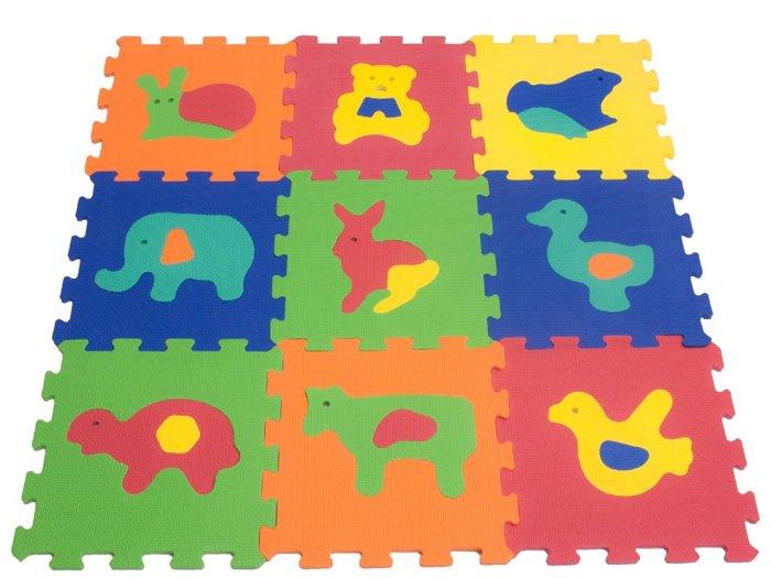 tappeto puzzle con animali della marca teorema