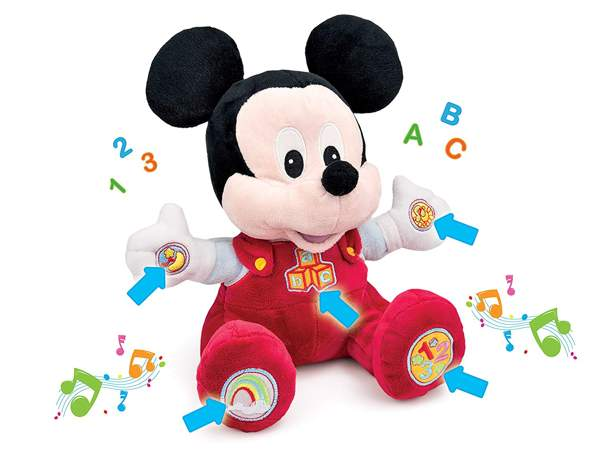 Descrizione di Baby Topolino: Peluche Clementoni per Neonati