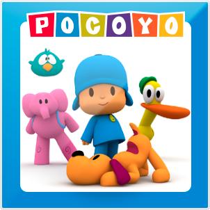 Pupazzetti da bagnetto del cartone animato Pocoyo