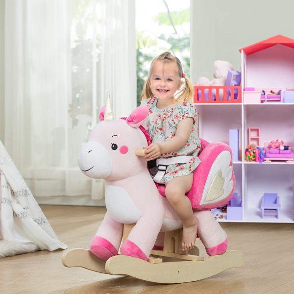 unicorno a dondolo labebe per bambini