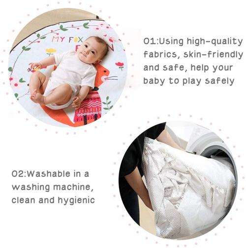 tappeto lavabile per bambini in cotone della marca jateven
