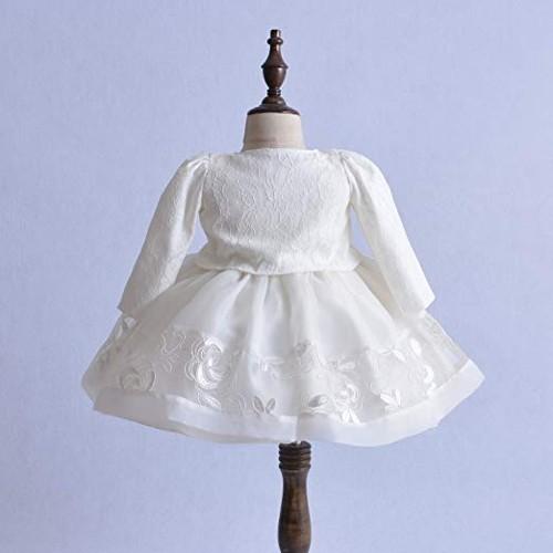 abito da battesimo per bimba ideale per l'inverno