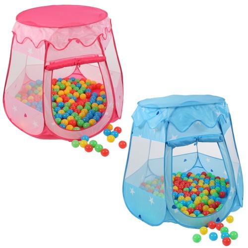tenda con piscinette di palline